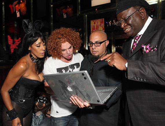 Bunny Lagracella Omran, Carrot Top, Joe Fury (9 Group), George Wallace - credit Shane O'Neal-570