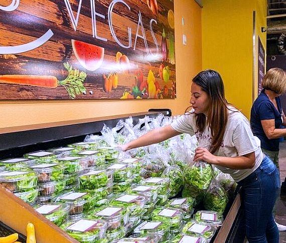 130 pounds of Evercress mixed greens were donated to Catholic Charities of Southern Nevada