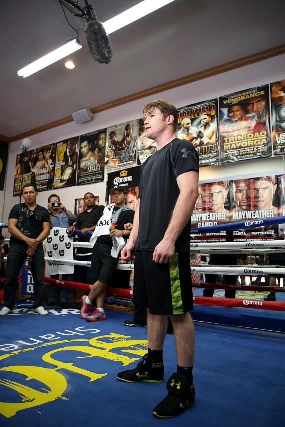 Canelo trains at Big Bear