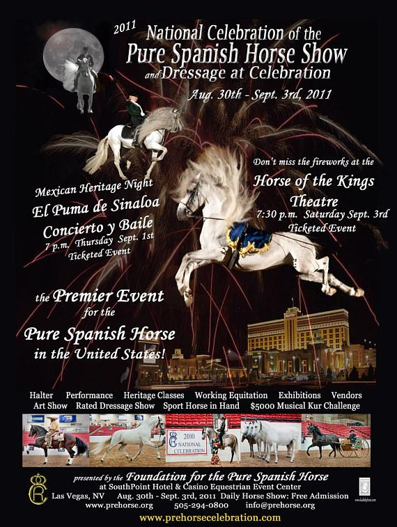 Pure Spanish Horse Show at SouthPoint Hotel Equestrian Event Center Aug. 30 - Sept. 3