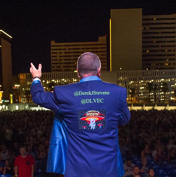 CEO Derek Stevens welcomes the crowd at DLVEC
