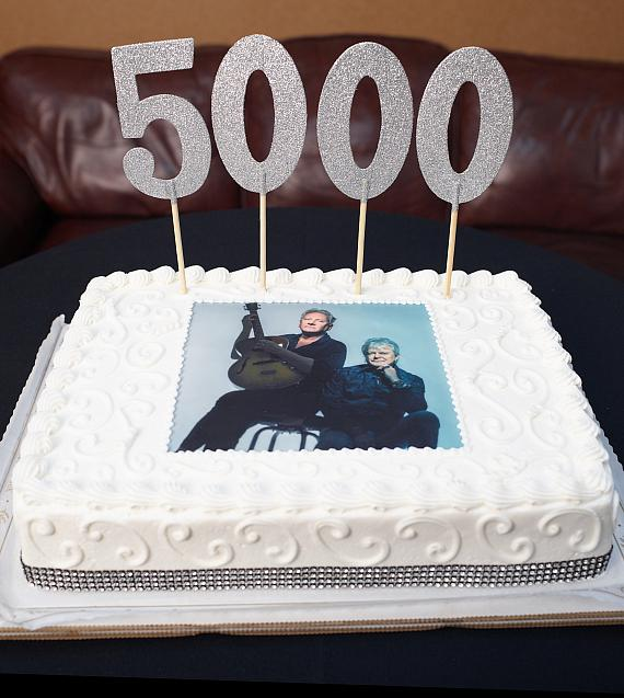 Air Supply's 5,000th Concert Cake at the Orleans Hotel and Casino in Las Vegas