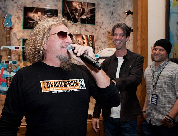 Sammy Hagar talks about the showcase with Creative Director Todd Gallopo and Producer Zan Passante of Meat and Potatoes Inc.