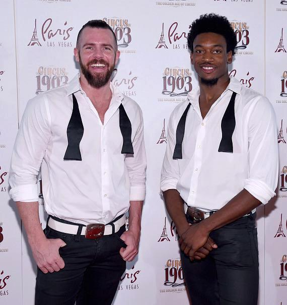 CHIPPENDALES Stars Ryan Kelsey and Dimitri Blizzeard Attend Opening Night of CIRCUS 1903 at Paris Las Vegas