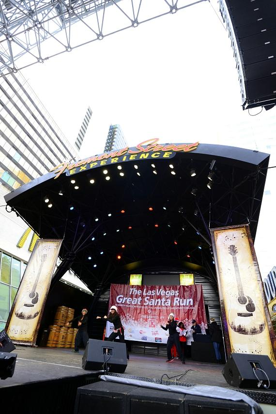 Performers on the Fremont Street Experience stage