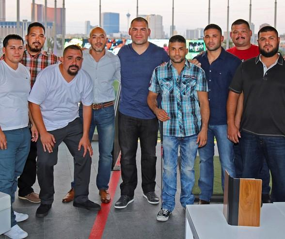 UFC Heavyweight Cain Velasquez Celebrates a Friend's Bachelor Party at Topgolf Las Vegas