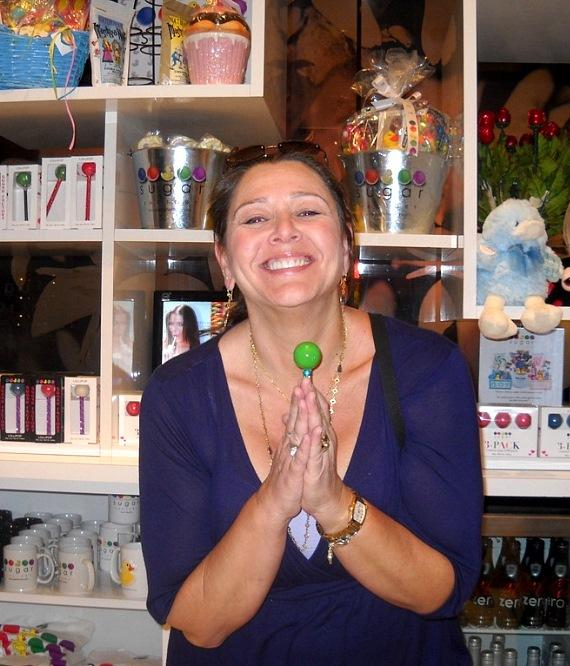 Camryn Manheim with Sugar Factory Couture Pop