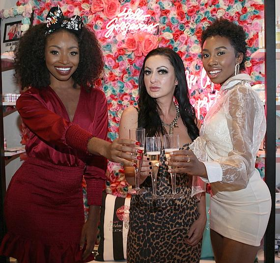 Candace Rice - Heather Marianna - Carrie Bernans Toast to a Successful Yaaganix Launch at Beauty Kitchen Boutique