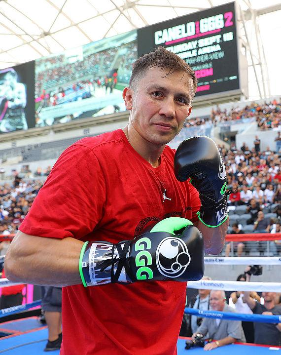 "Gennady ""GGG"" Golovkin at Los Angeles Media Workout"