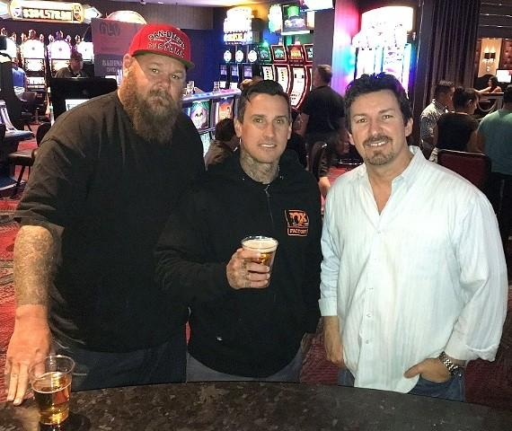 Rapper Big B, Carey and the D Executive Richard Wilk