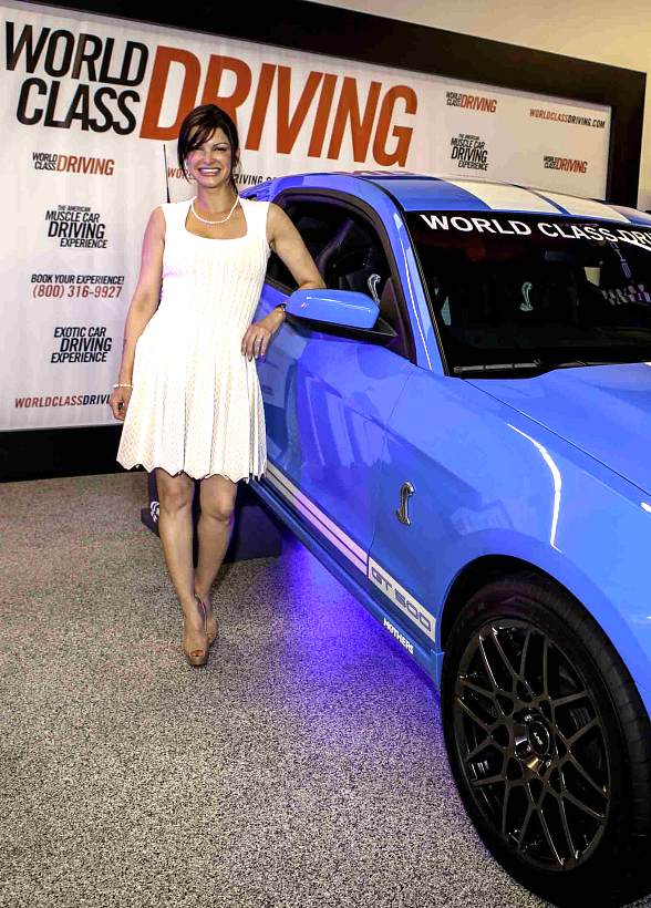 Carla Pellegrino with a 2013 Shelby GT 500