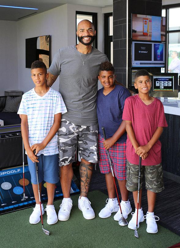 Former NBA All-Star Carlos Boozer spotted at Topgolf Las Vegas