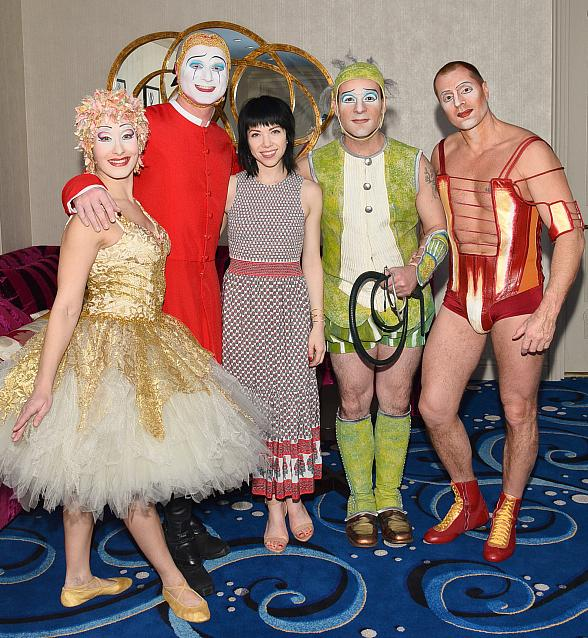 "Recording Artist Carly Rae Jepsen at ""O"" by Cirque du Soleil"