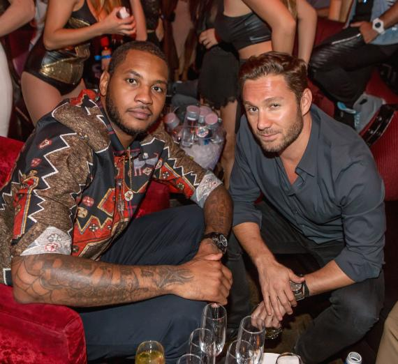 Carmelo Anthony & Jason Strauss at LAVO Casino Club