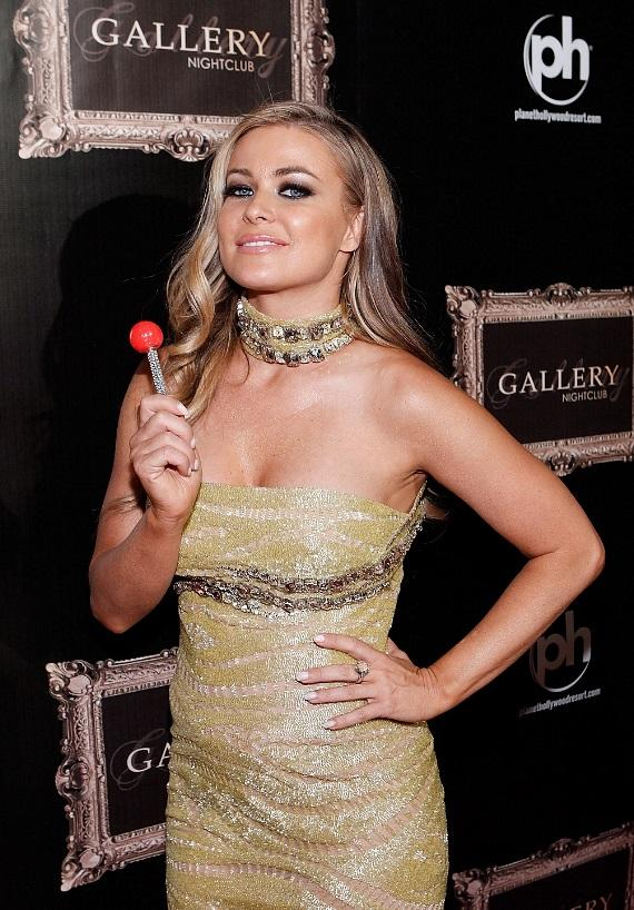 Carmen Electra on the red carpet at Gallery nightclub at Planet Hollywood Resort & Casino