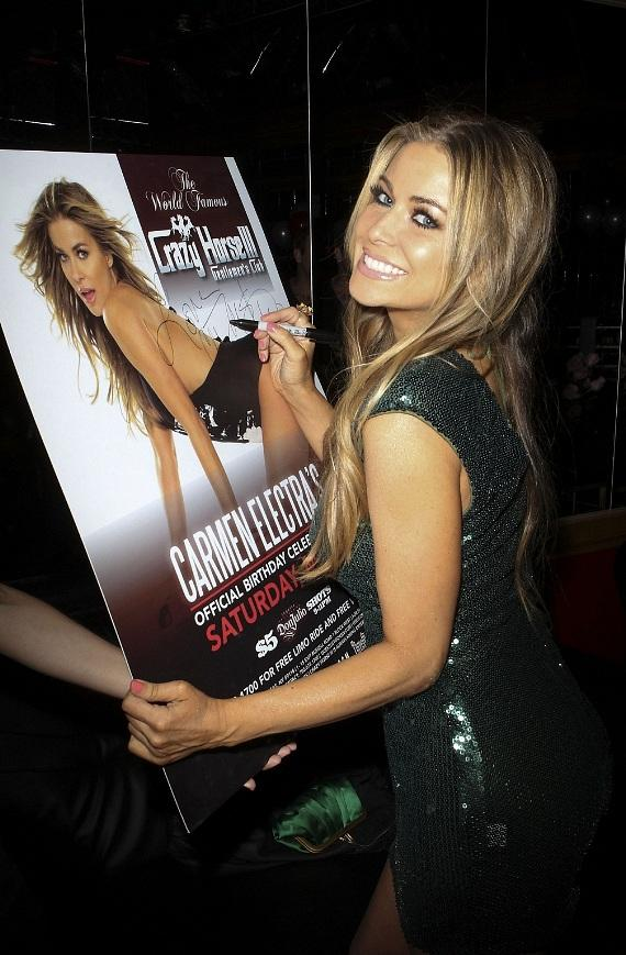 Carmen Electra signing event poster for adoring fans at Crazy Horse III