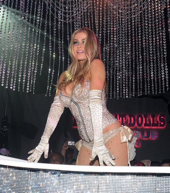 Carmen Electra performs live at Pussycat Dolls Burlesque Saloon