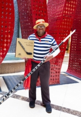 "Vegas Golden Knights Anthem Singer Carnell ""Golden Pipes"" Johnson Honored by The Venetian and The Palazzo with Plaque and Gondola Oar Shaped Hockey Stick"
