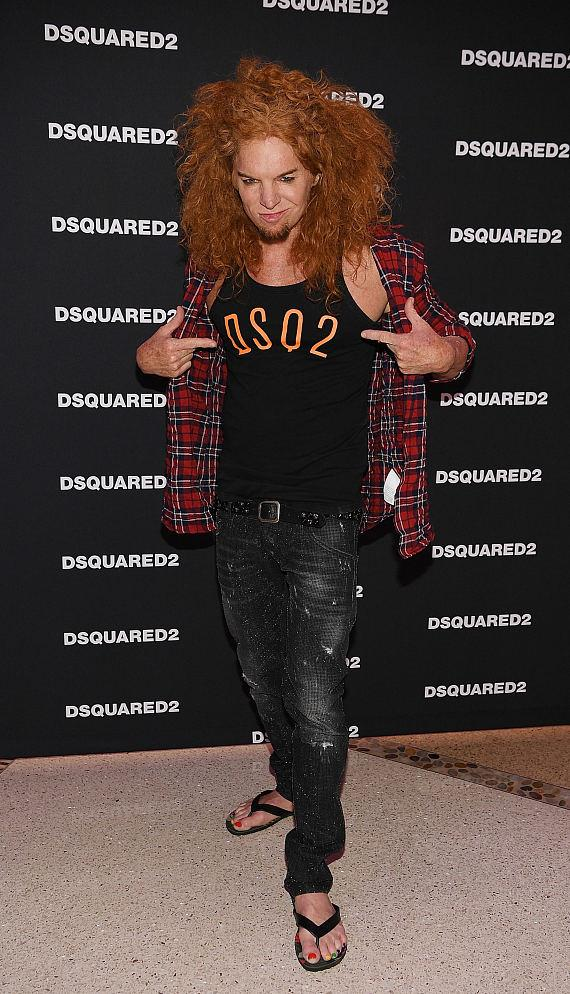 Carrot Top at DSQUARED2 Grand Opening