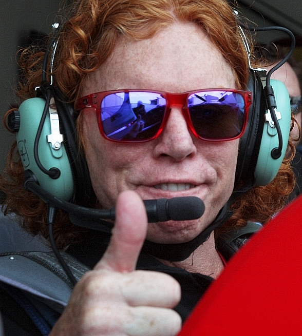 Carrot Top at Sky Combat Ace, Las Vegas