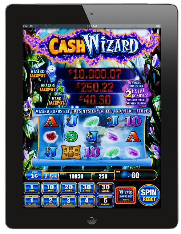 Cash Wizard iPad game by Bally Technologies