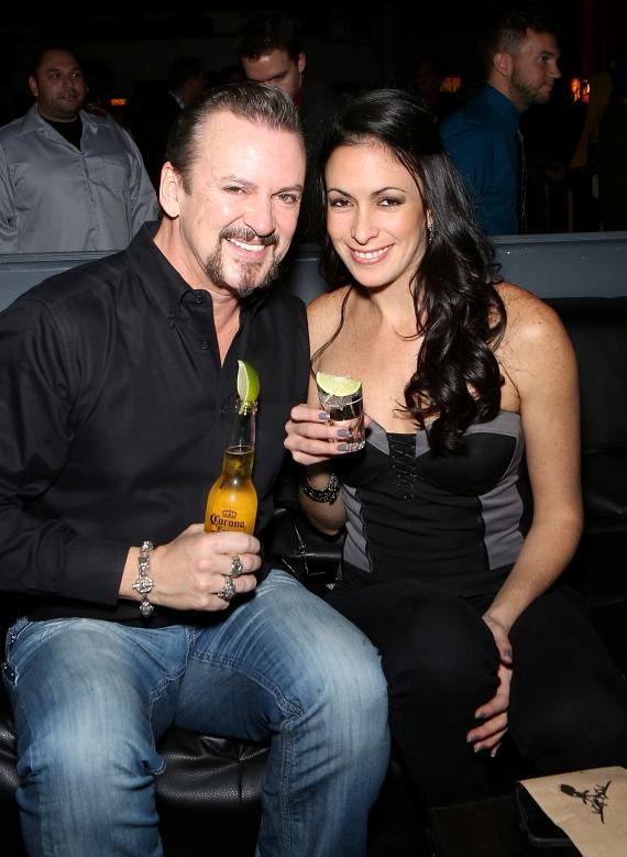 Cast member Troy Burgess and wife Yesi at Insert Coins