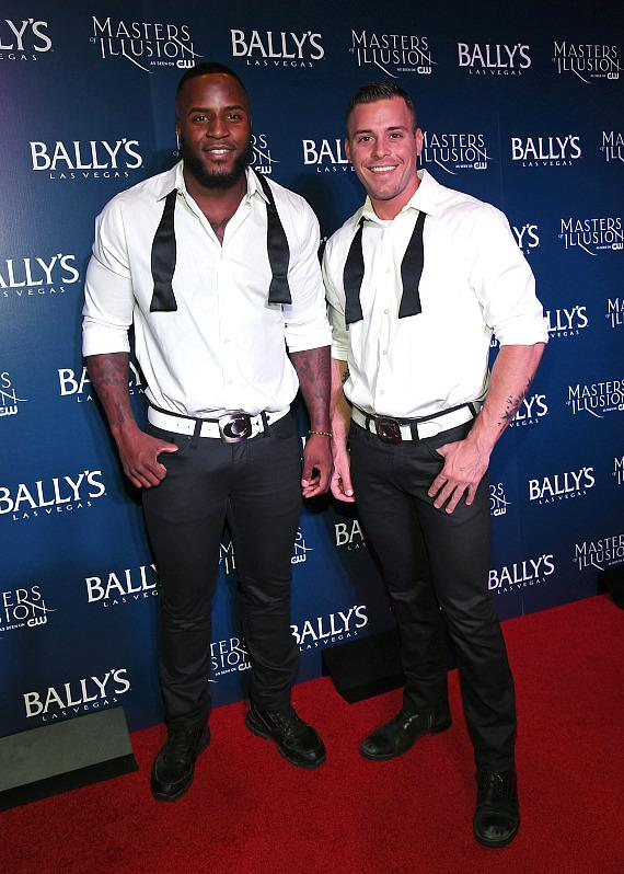 Cast members from CHIPPENDALES on the red carpet at opening night of Masters of Illusion at Bally's Las Vegas