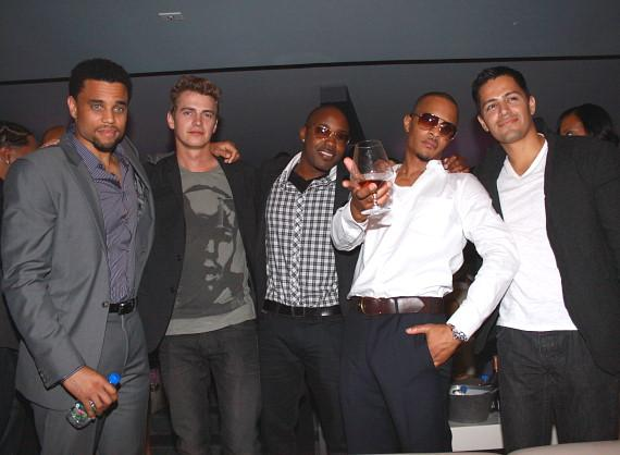 Cast of TAKERS, Michael Ealy, Hayden Christensen, producer Will Packer, TI, Jay Hernandez at Lagasse's Stadium