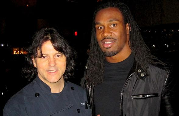 St. Louis Rams running back Steven Jackson with Chef Kerry Simon at Simon at Palms Place