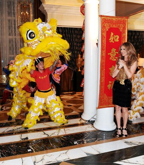 Celine Dion Hosts Grand Opening of Octavius Tower at Caesars Palace with Lunar New Year Celebration