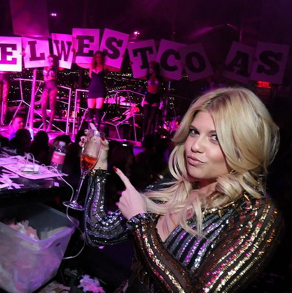 Chanel West Coast in DJ booth