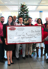 "Chapman Chrysler Jeep Spreads Holiday Cheer by Donating ""Cars for the Cure"" Proceeds to Susan G. Komen Nevada"