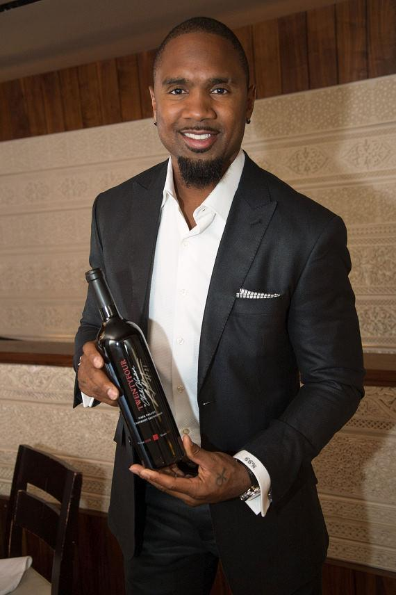 NFL football star and wine maker Charles Woodson at LAVO