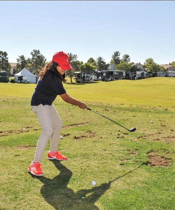 Charley Hoffman Foundation - student tees off
