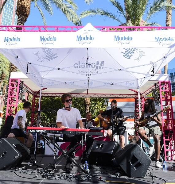Charlie Puth performs at Flamingo GO Pool