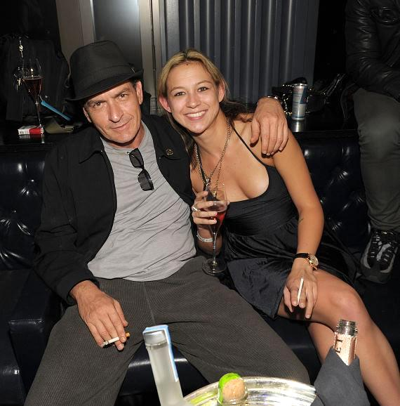 Charlie Sheen hosts at Chateau Nightclub & Gardens joined by his goddess, Natalie Kenly