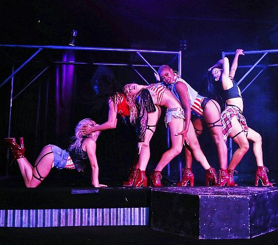 Cherry Boom Boom Dancers on Stage