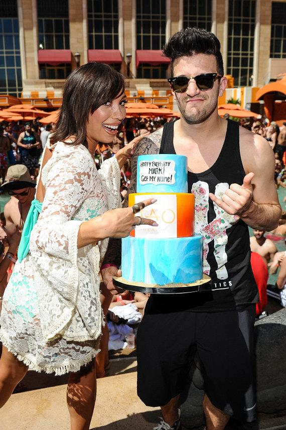 Cheryl Burke and Mark Ballas at TAO Beach