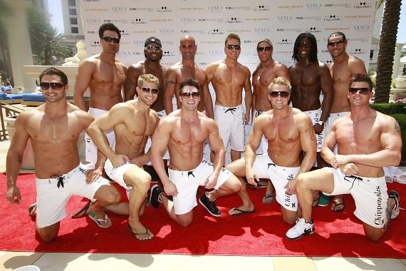 The Chippendales celebrate at Venus Pool Club
