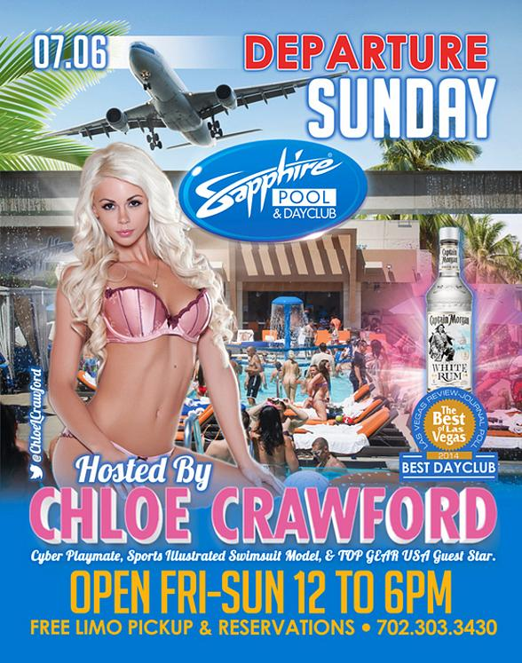 Cyber Playmate and SI Swimsuit Model Chloe Crawford to Host Departure Sunday at Sapphire Pool & Day Club July 6