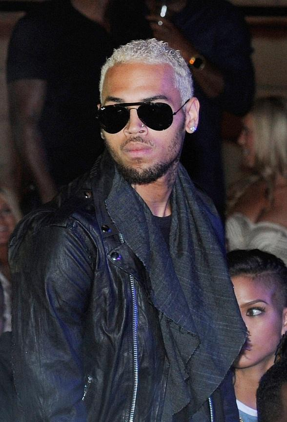 Chris Brown Parties at Chateau Nightclub & Gardens with Host Diddy