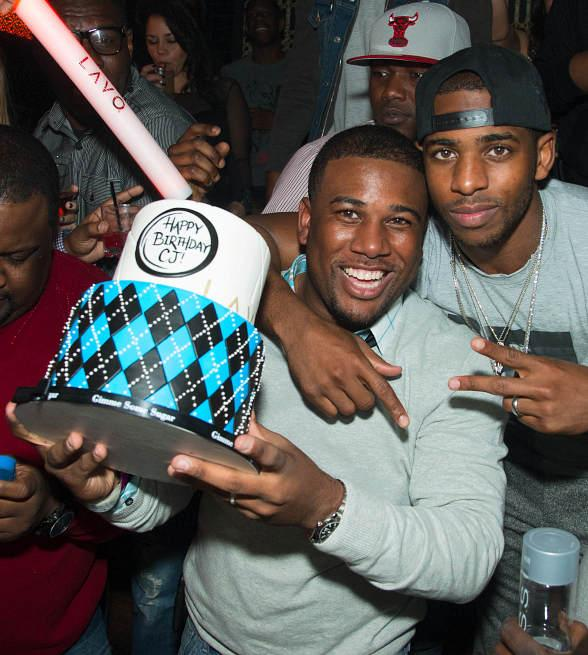 Chris Paul and brother CJ at LAVO
