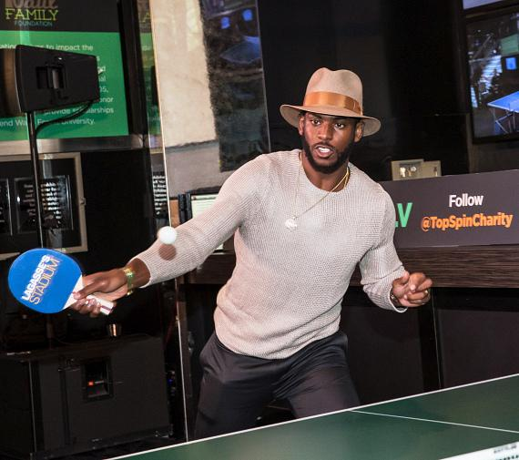 Chris Paul at the TopSpin Charity Ping Pong Tournament