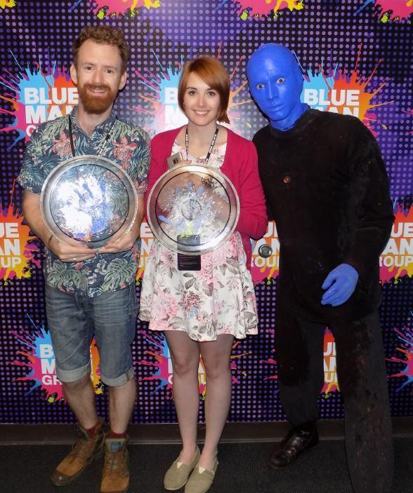 """Harry Potter"" Actor Chris Rankin Attends Blue Man Group at Luxor Hotel and Casino in Las Vegas"