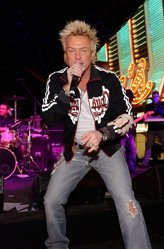 Chris Phillips of Zowie Bowie at Fremont Street Experience NYE