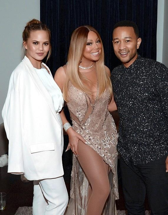 """Chrissy Teigen and John Legend at """"Mariah #1 to Infinity"""" at The Colosseum at Caesars Palace"""
