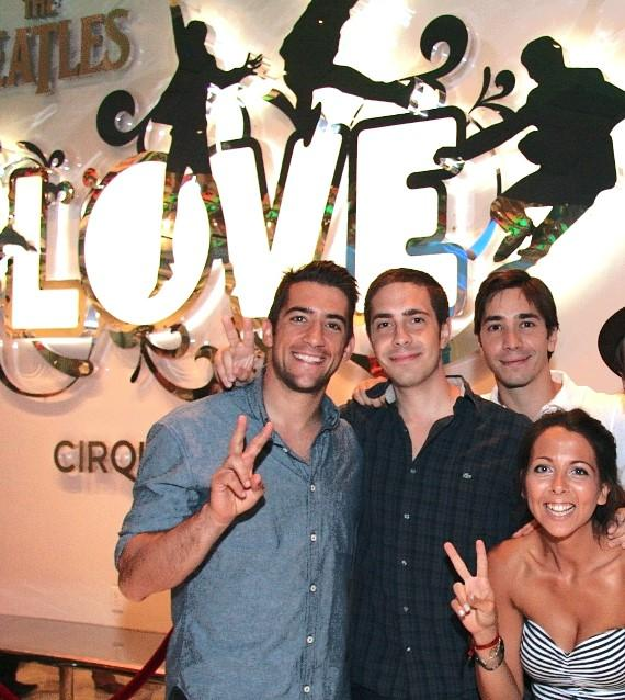 Jonathan Togo, Christian Long, Justin Long and Christian's female friend