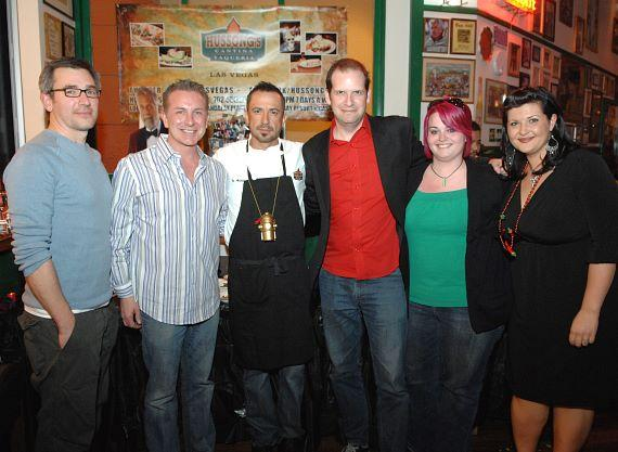 Christian Struck, Jay McCarthy, Noe Alcala, EC Gladstone, Rachel Seib and Cortney Salazar at Hussong's Cantina