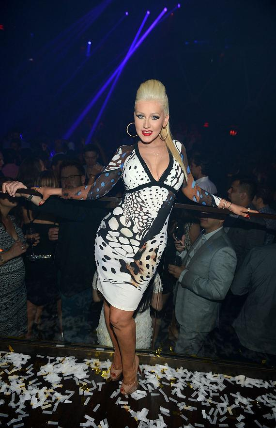 Christina Aguilera at Hakkasan 2-Year Anniversary Party