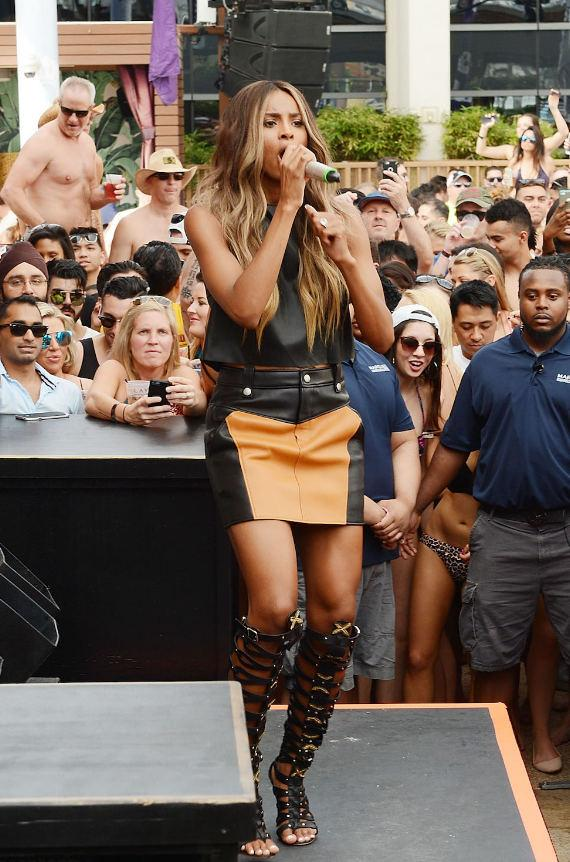 Ciara on stage at Marquee Dayclub